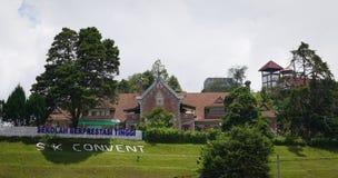 A igreja velha em Cameron Highlands, Malásia imagens de stock royalty free