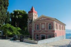 Igreja velha em Corfu, Kerkyra fotos de stock