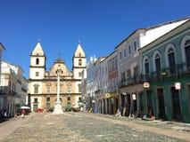 Igreja velha em Salvador de Bahia imagens de stock royalty free