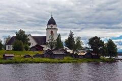 Igreja velha em Sweden foto de stock royalty free