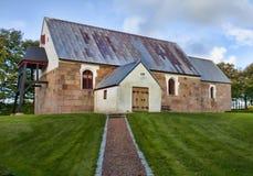 Igreja velha Oester Vandet, Dinamarca Fotografia de Stock Royalty Free