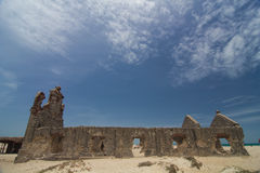 A igreja velha permanece após o ciclone Imagem de Stock Royalty Free