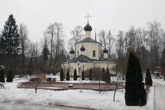 Igreja velha pura no inverno Foto de Stock Royalty Free