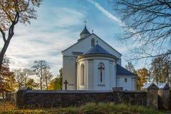Igreja velha Veliuona lithuania fotos de stock royalty free
