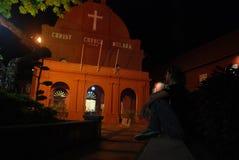 Igreja vermelha de Cristo de Melaka fotos de stock royalty free