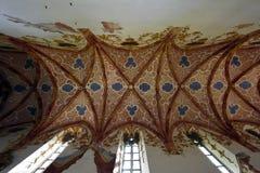 Igreja vermelha do monastério, região de Spis, Eslováquia imagens de stock