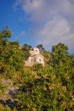 Igrejas antigas em Palaia Chora, Aegina, Grécia Fotografia de Stock