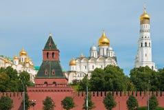 Igrejas de Kremlin famoso, Moscovo Imagens de Stock