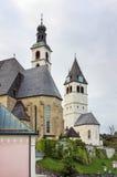 Igrejas em Kitzbuhel Fotografia de Stock Royalty Free