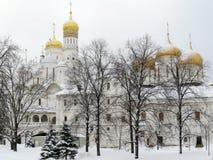 Igrejas em Kremlin Fotos de Stock Royalty Free