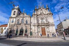Igrejas gêmeas em Porto imagem de stock royalty free