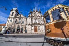 Igrejas gêmeas em Porto foto de stock