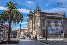 Igrejas gêmeas em Porto fotografia de stock