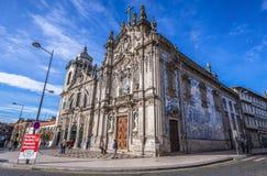 Igrejas gêmeas em Porto fotos de stock royalty free