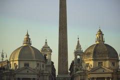 Igrejas gêmeas em Roma Foto de Stock Royalty Free