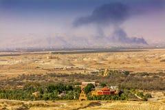 Igrejas novas Bethany Beyond Jordan do monte do ` s de Elijah fotos de stock royalty free