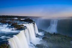 Iguaçu Falls seen from top to bottom Royalty Free Stock Photography