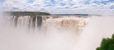 Iguacu下跌全景 图库摄影