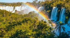 Iguacu понижается от стороны Аргентины Стоковые Изображения