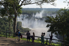 Iguacu fall in Brazil Stock Photo