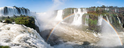 Iguacu (Iguazu) falls on a border of Brazil and Argentina Stock Photography