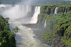 Iguacu Wasserfälle lizenzfreies stockfoto