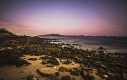 Igualación de la atmósfera de la playa imagen de archivo libre de regalías