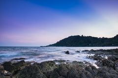 Igualación de la atmósfera de la playa fotos de archivo libres de regalías