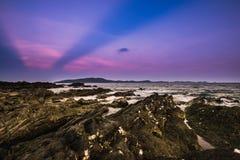 Igualación de la atmósfera de la playa imágenes de archivo libres de regalías