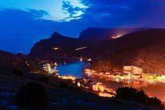 Igualación de la inspiración Golfo del mar en la opinión superior de la noche travelling foto de archivo libre de regalías