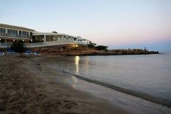 Igualación de la playa hermosa Chipre Imagen de archivo libre de regalías