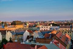 Igualación de la visión sobre el horizonte de Zagreb, Croacia imagen de archivo libre de regalías