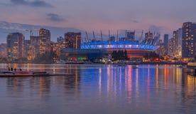 Igualación de la vista del paisaje urbano en Vancouver imágenes de archivo libres de regalías