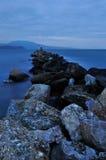 Igualación de paisaje marino rocoso imágenes de archivo libres de regalías