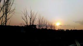 Igualación de puesta del sol del paseo en Bangalore Imagenes de archivo