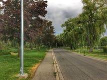 Igualación del paseo en el parque que disfruta de la temperatura caliente del verano fotografía de archivo libre de regalías
