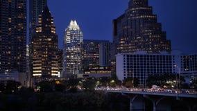 Igualación del tiro de establecimiento estático exterior del horizonte de Austin metrajes