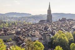 Igualación escénica de la ciudad de Berna, la capital de Suiza Fotografía de archivo libre de regalías