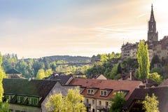 Igualación escénica de la ciudad de Berna, la capital de Suiza Fotos de archivo