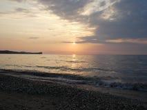 Igualación/puesta del sol Imágenes de archivo libres de regalías