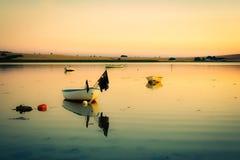 Igualando calma en la bahía (retra) Imagen de archivo