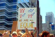 Igualdad de género Foto de archivo libre de regalías