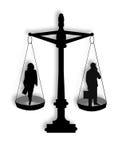 Igualdad de oportunidades en la ilustración del asunto Imágenes de archivo libres de regalías
