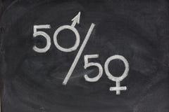 Igualdad de oportunidades o representación de géneros Foto de archivo libre de regalías