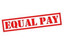 Igualdad de salario Fotografía de archivo libre de regalías