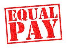 Igualdad de salario Imagenes de archivo