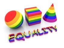 Igualdad - orgullo gay stock de ilustración