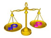 Igualdade de gênero ilustração do vetor