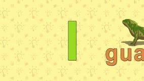 Iguana Alfabeto inglese dello ZOO - lettera I royalty illustrazione gratis