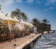 Iguana cafe - Punda waterfront Royalty Free Stock Photos